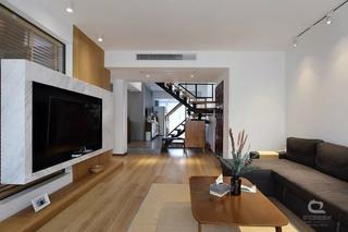 现代MUJI风三居客厅装修效果图