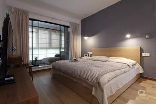 现代MUJI风三居卧室装修效果图