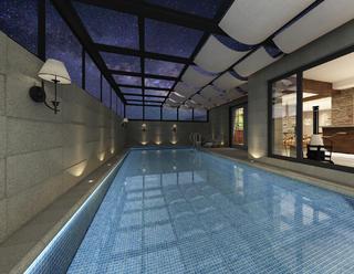 美式风格别墅游泳池装修效果图