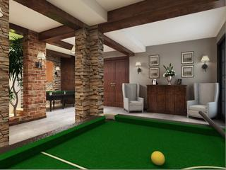 美式风格别墅娱乐室装修效果图