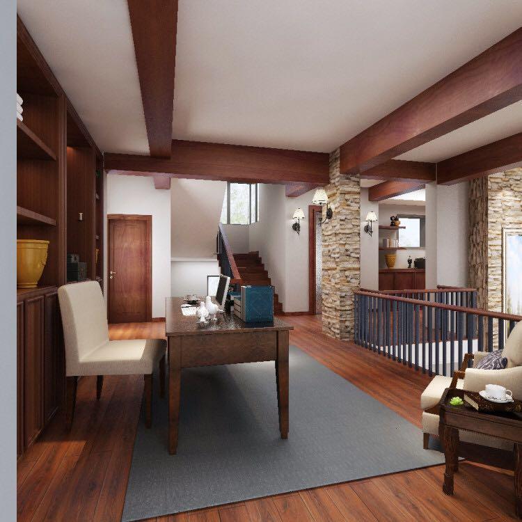 美式风格别墅沙发装修效果图