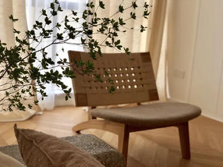 简约日式风格装修休闲椅设计图