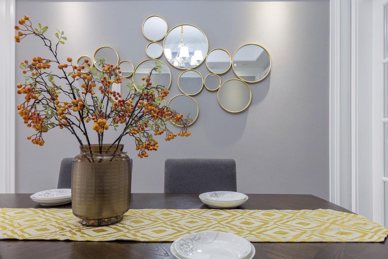 125平美式风格餐厅背景墙装修效果图