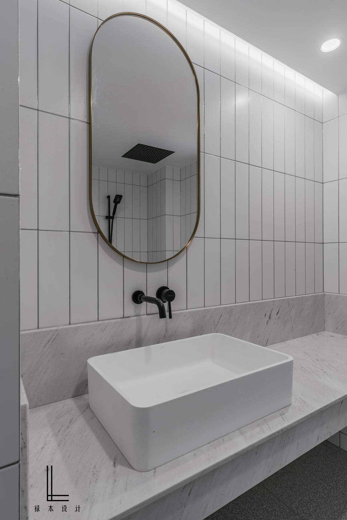 极简风格三居洗手台装修效果图