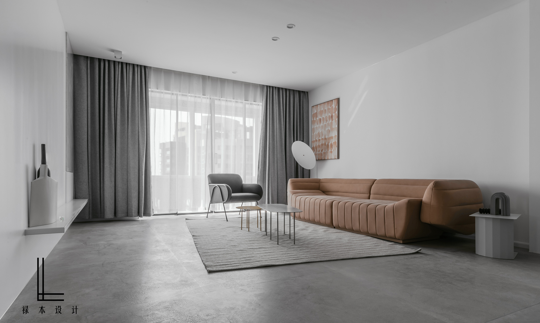 极简风格三居客厅装修效果图