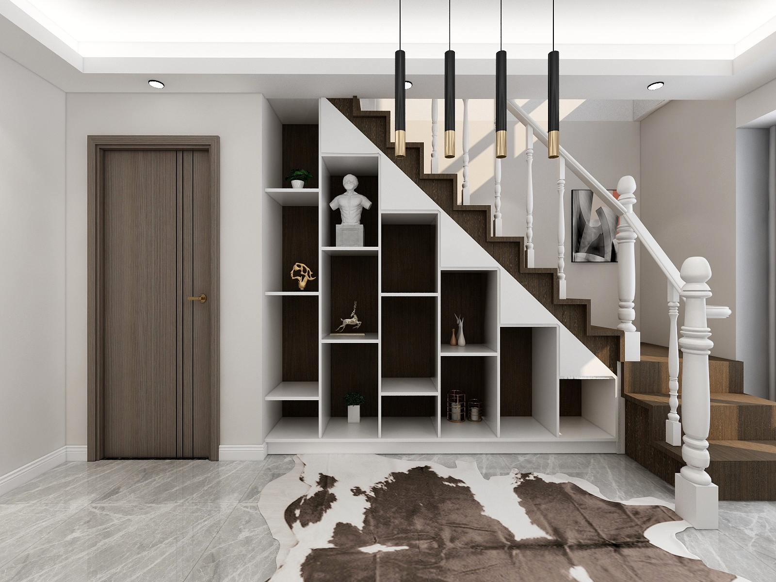复式简约风格楼梯装修效果图