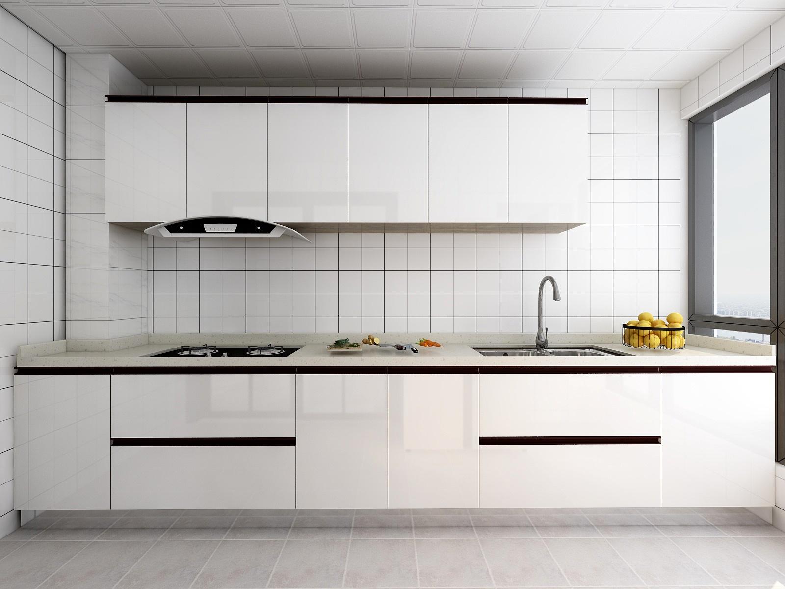 复式简约风格厨房装修效果图