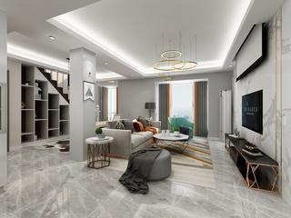 复式简约风格客厅装修效果图