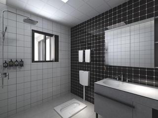 复式简约风格卫生间装修效果图
