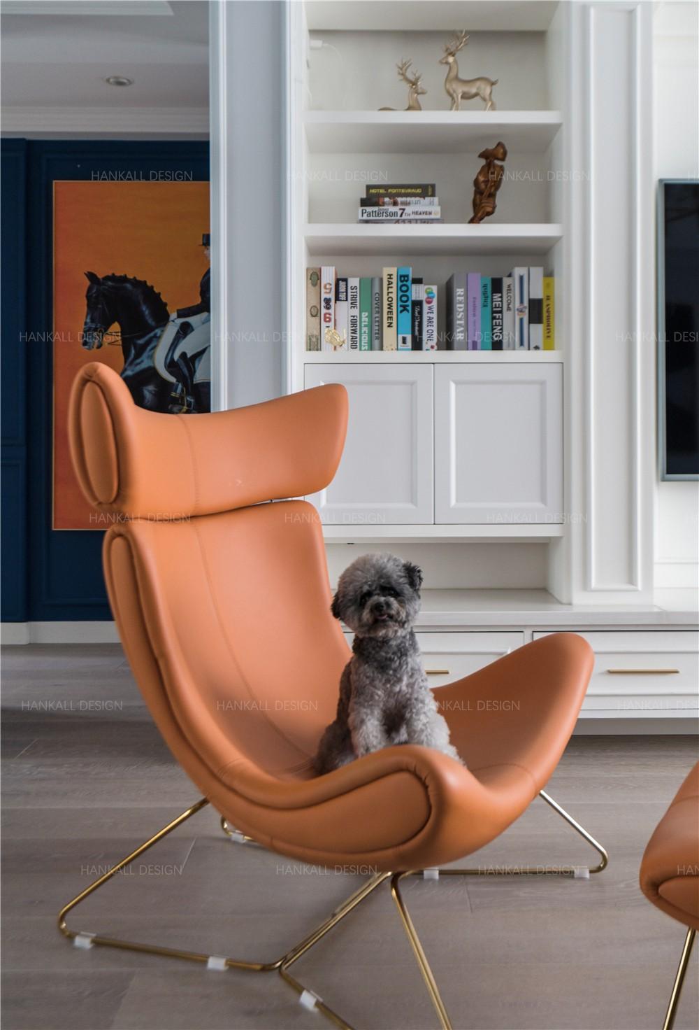 轻奢混搭三居室装修躺椅设计图