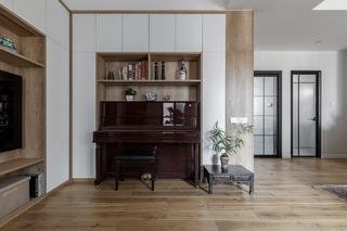 110㎡简中式风格客厅装修效果图