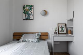 110㎡简中式风格卧室装修布置图