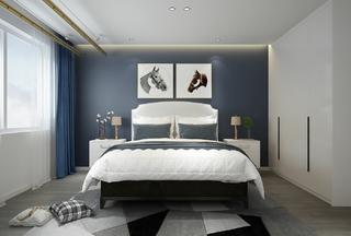 150平现代混搭风卧室装修效果图
