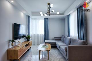 现代北欧二居室客厅装修效果图