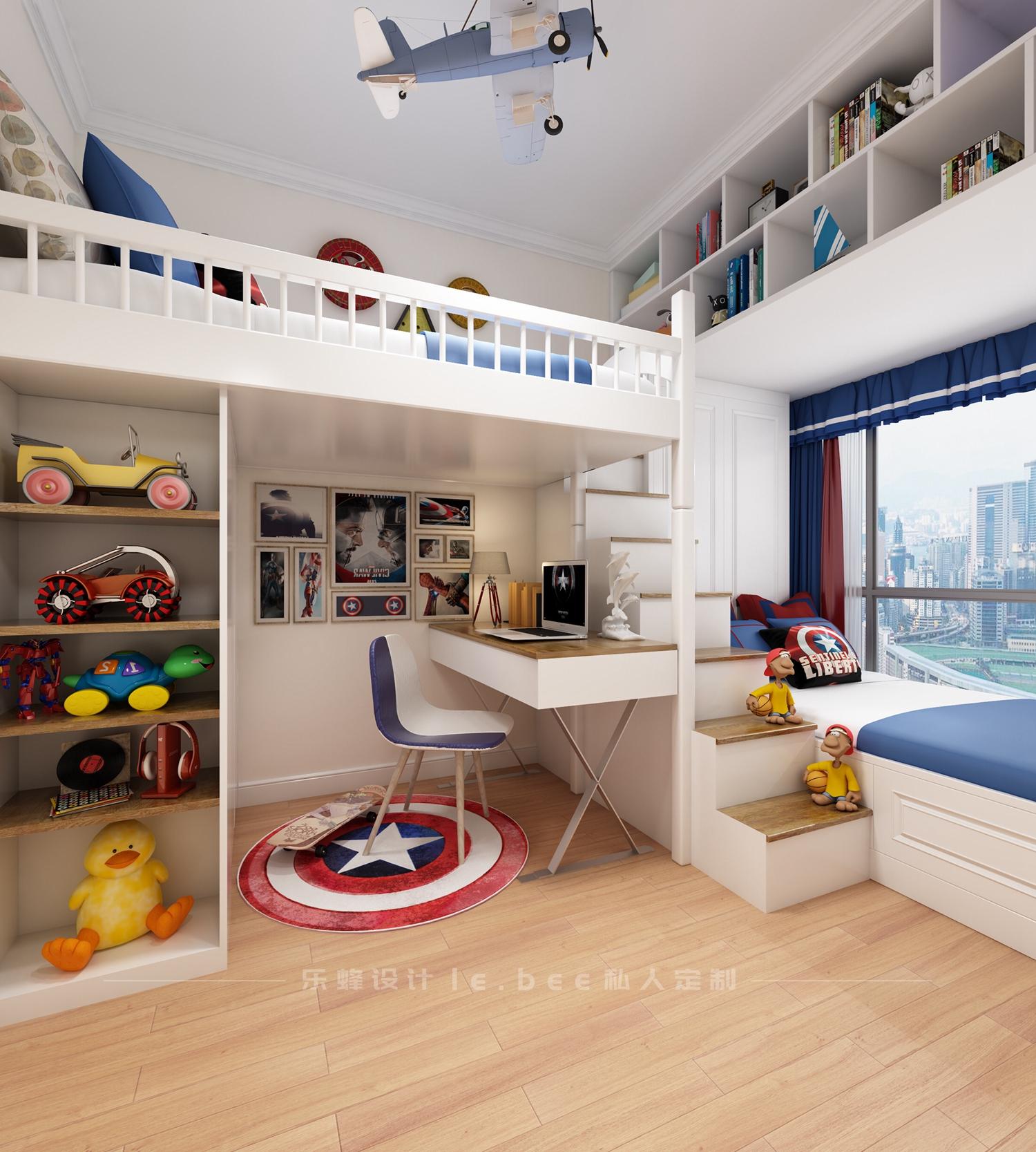 108平米三居儿童房装修效果图