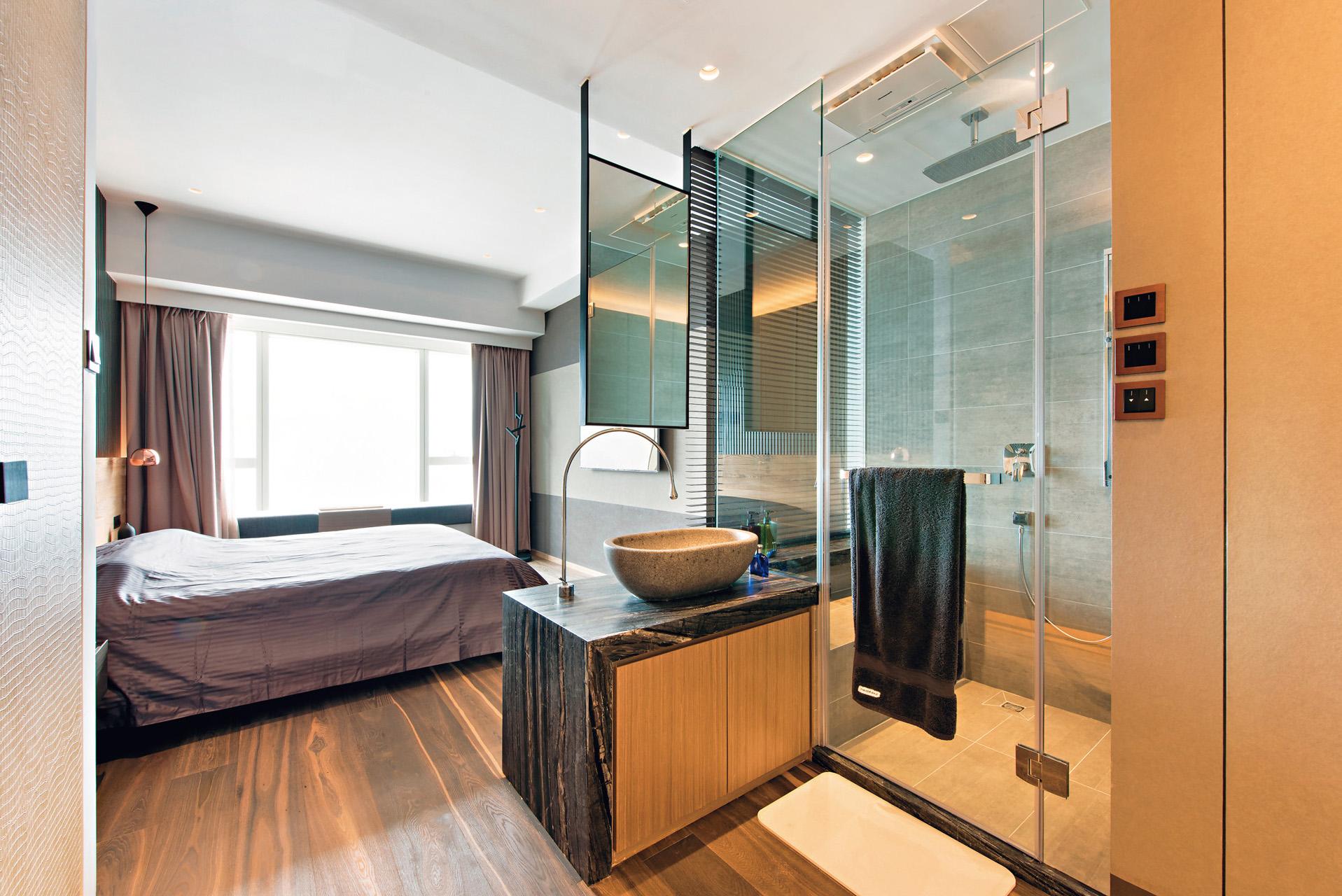 158㎡现代风格卧室卫生间装修效果图