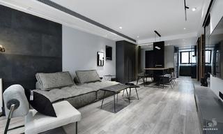 黑白灰现代简约风装修效果图