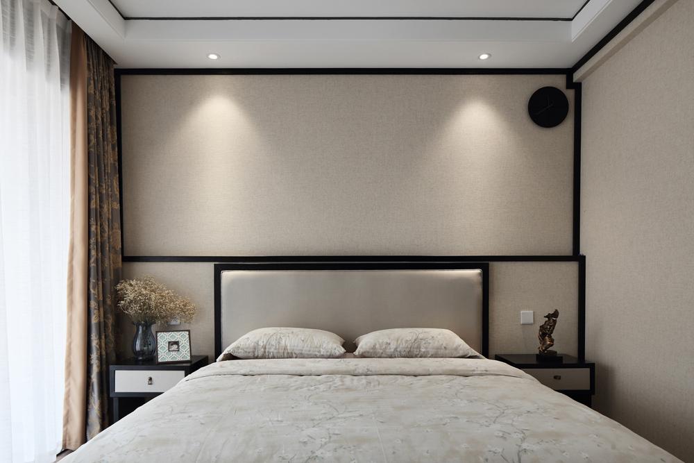 复式新中式风格卧室装修效果图