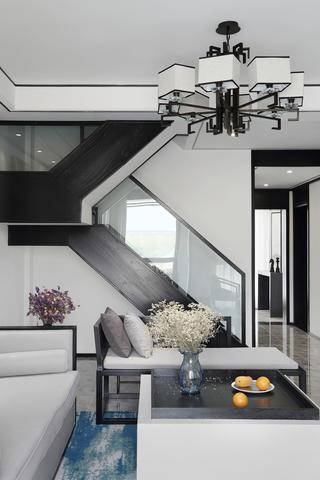 复式新中式风格楼梯装修效果图