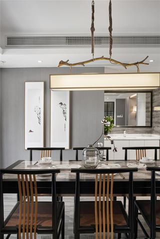 165平新中式风格餐厅装修效果图
