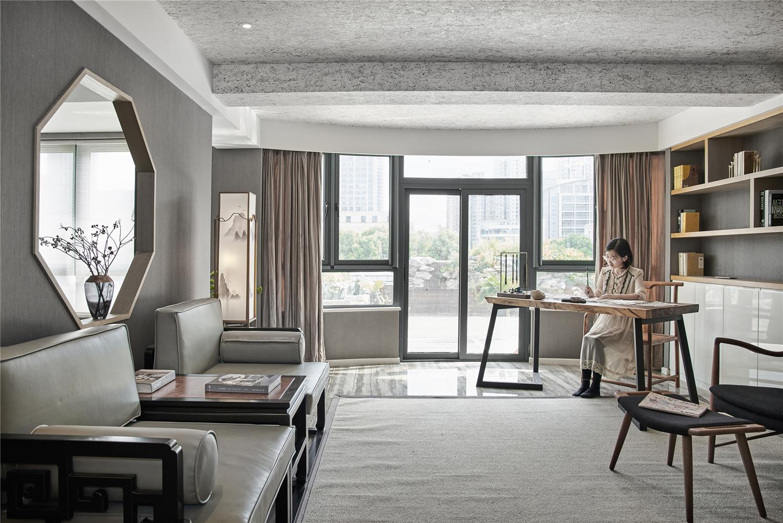 165平新中式风格客厅装修效果图