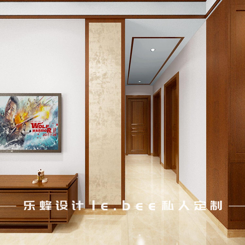 三居室中式风格过道装修效果图