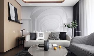 85平二居室装修效果图