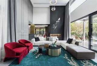 轻奢别墅客厅装修设计效果图