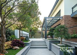 轻奢别墅庭院装修设计效果图