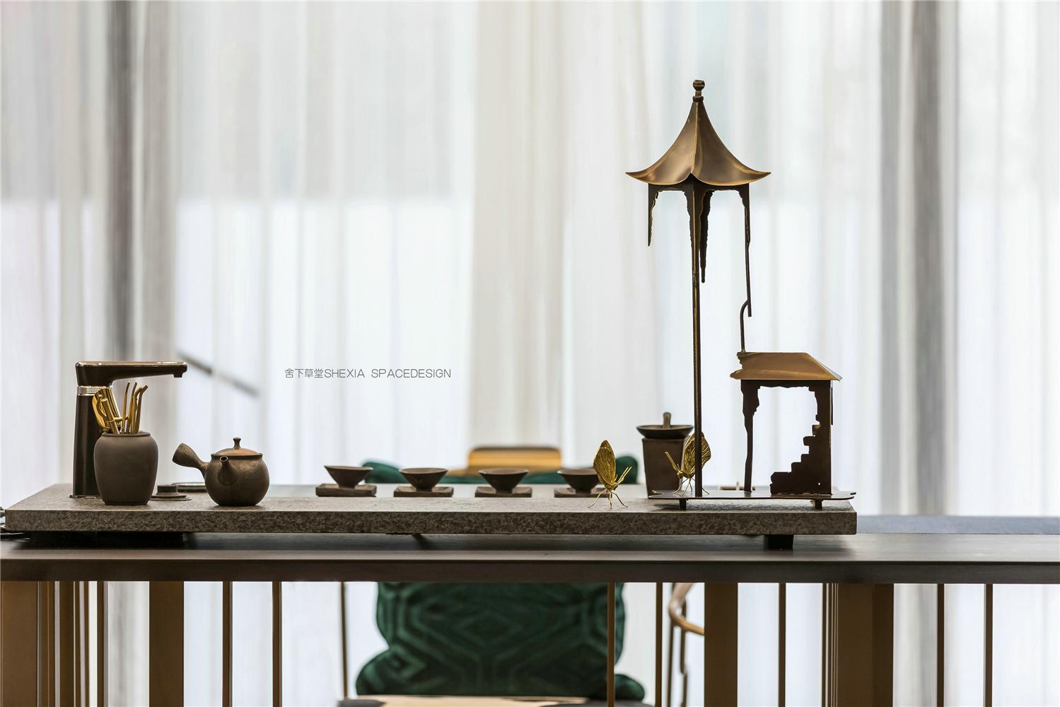 轻奢别墅装修茶桌设计效果图