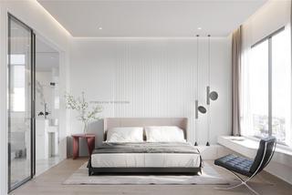 120㎡现代极简风卧室装修效果图
