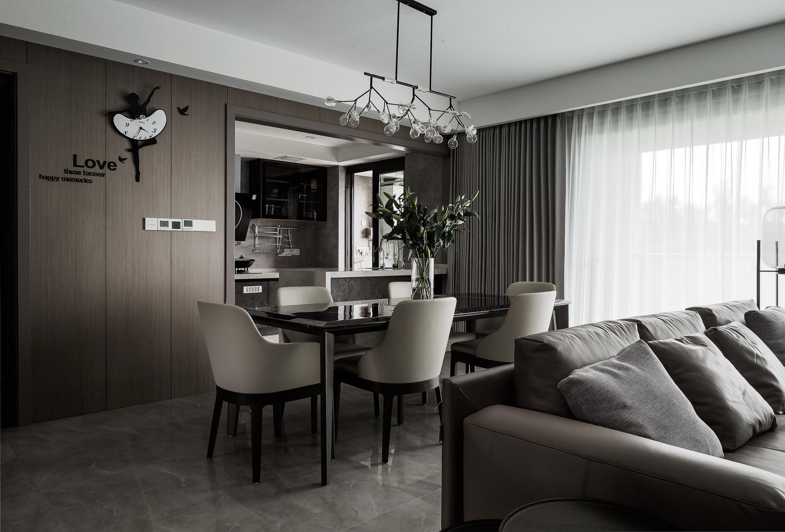 现代风格四居室餐厅装修效果图