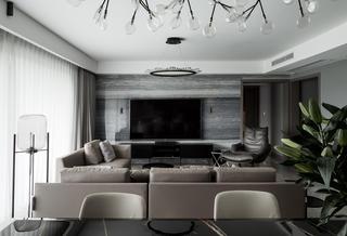 现代风格四居室电视背景墙装修效果图