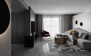 135㎡现代三居室客厅装修效果图