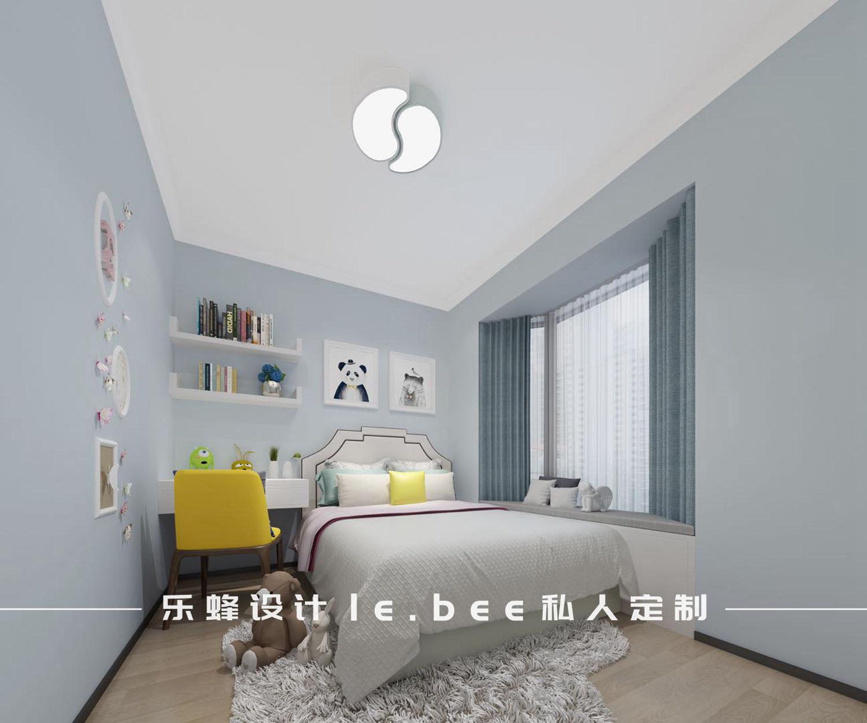 现代简约三居室儿童房装修效果图