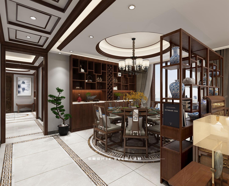 大户型中式风格餐厅装修效果图
