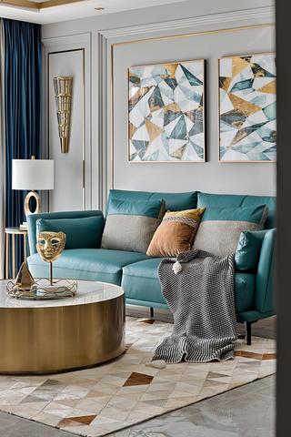 轻奢风四居室装修沙发设计图