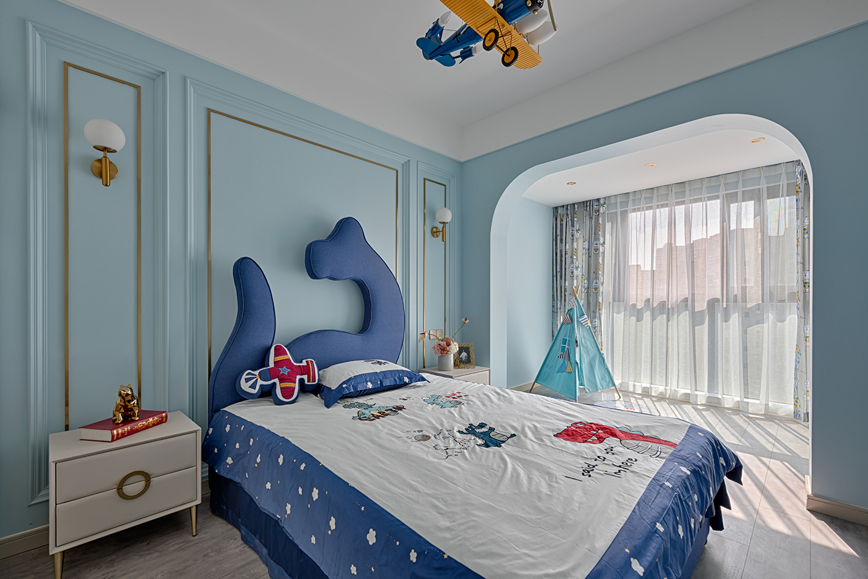 轻奢风四居室儿童房装修效果图