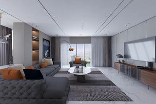 大户型后现代风格客厅装修效果图