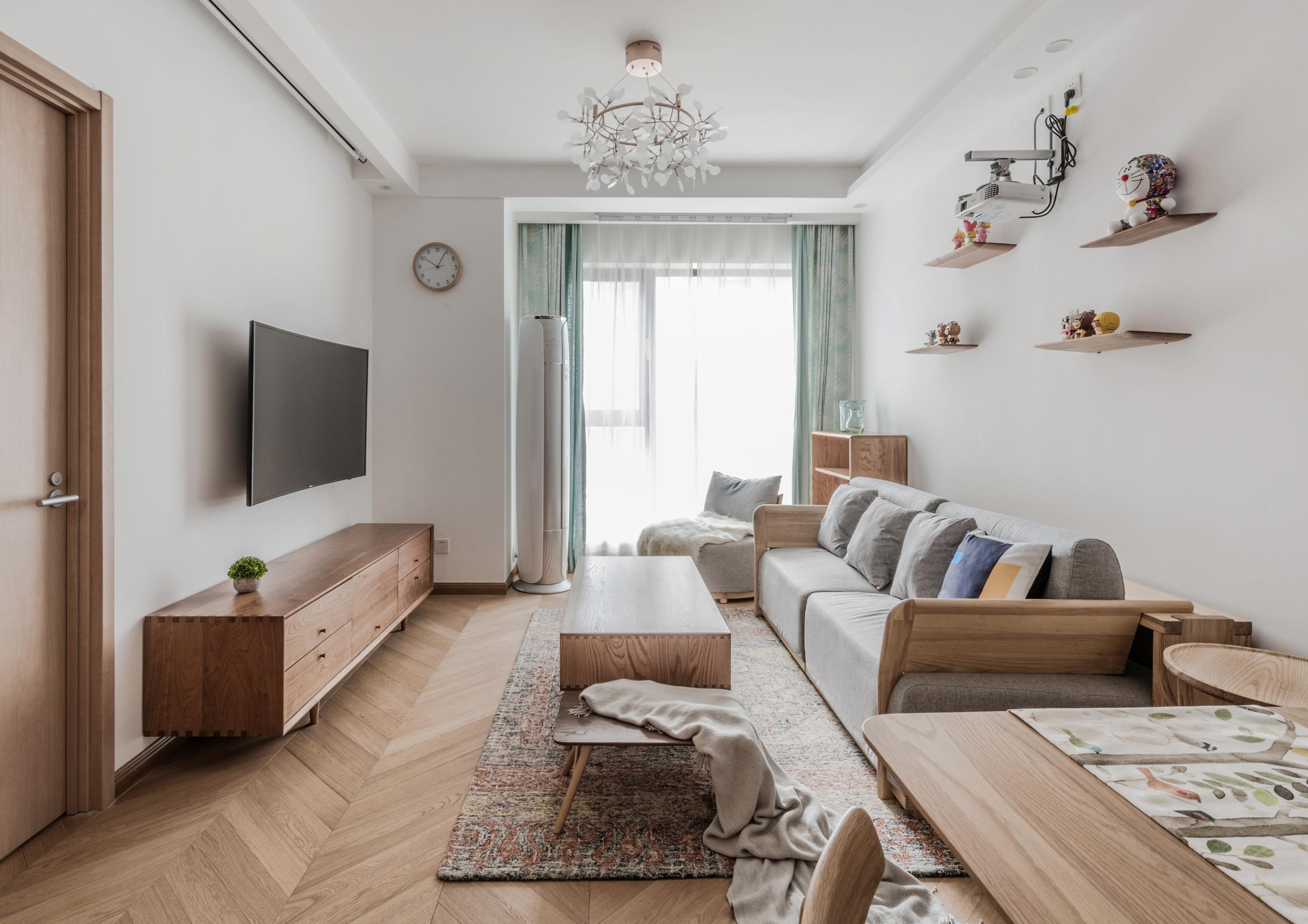 85㎡两居室客厅装修效果图