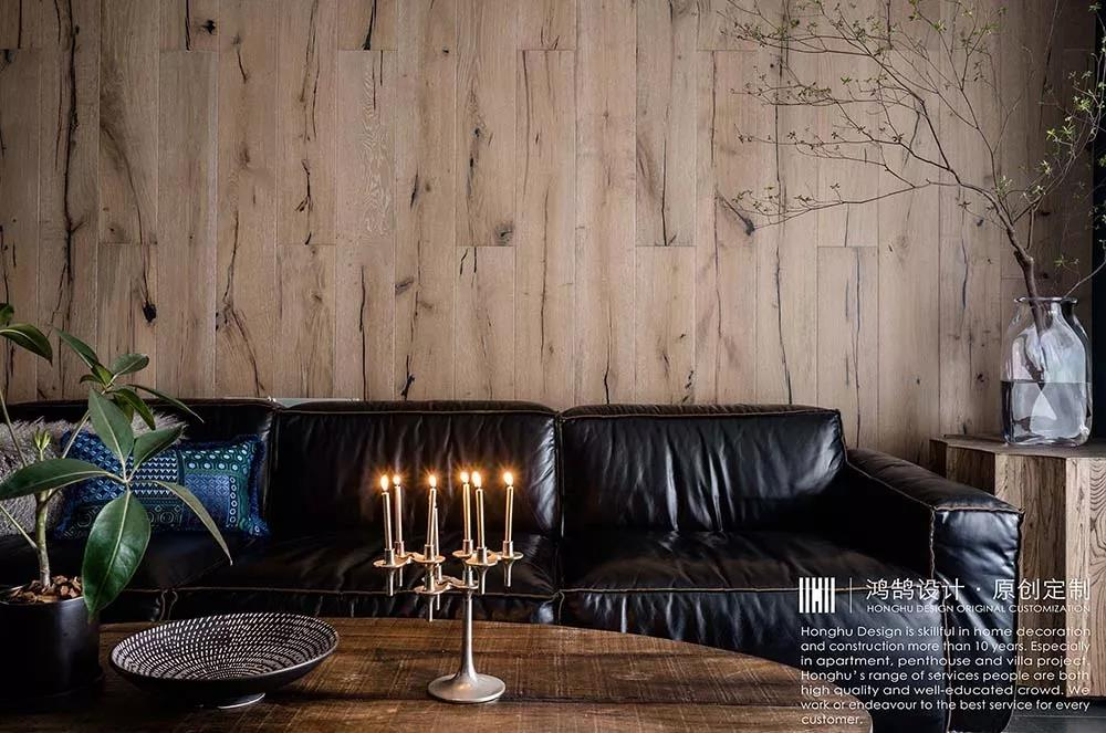 120平混搭风格沙发背景墙装修效果图