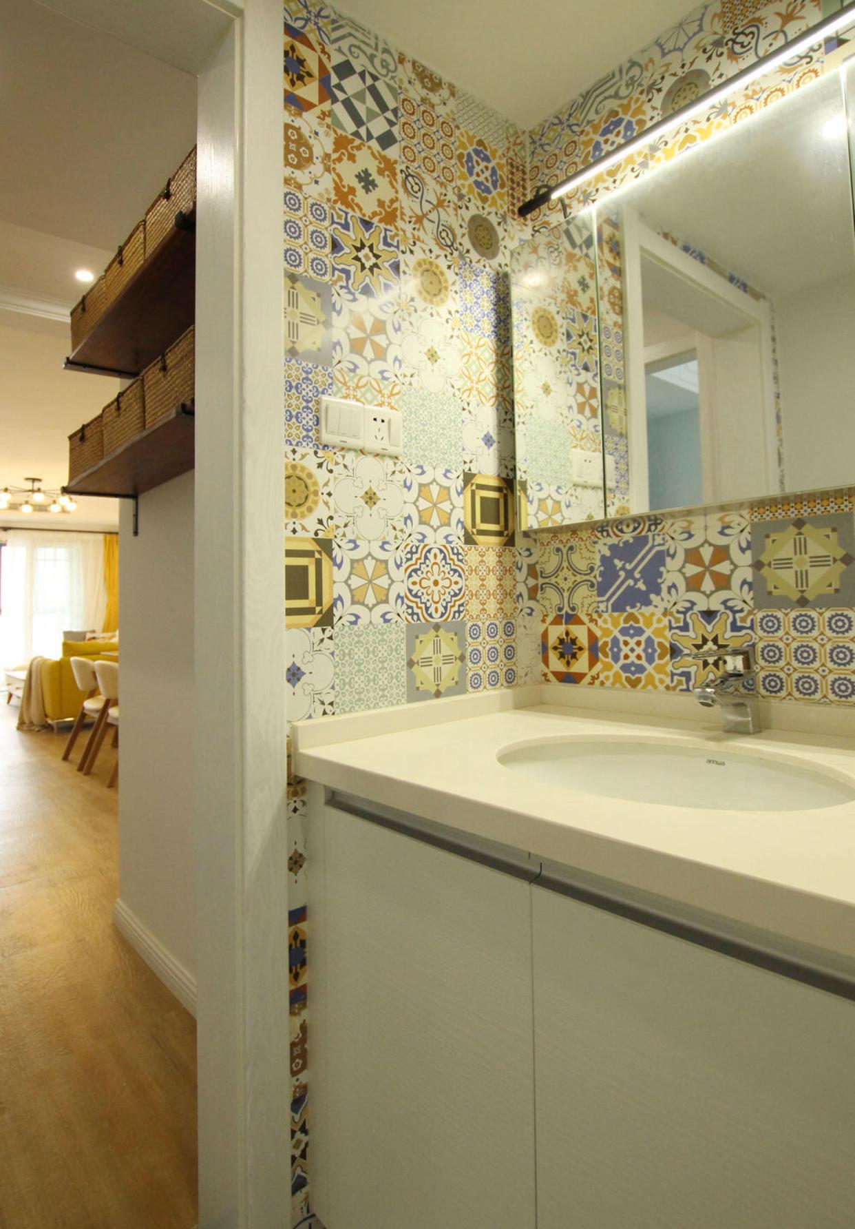 二居室北欧风洗手台装修效果图