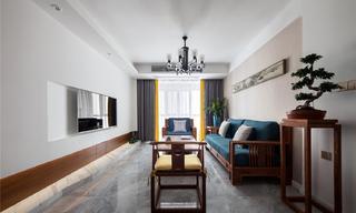 现代中式风格四居装修效果图