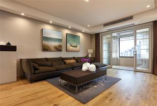 现代简约风格三居室沙发背景墙装修效果图