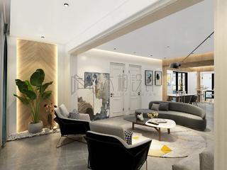 现代混搭三居客厅装修效果图