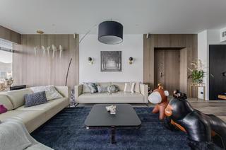 130㎡现代三居客厅装修效果图
