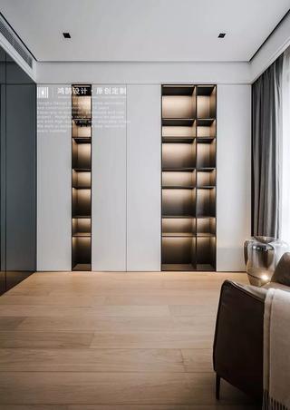 160平极简现代风书柜装修效果图