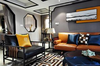 165㎡中式风格装修沙发设计图