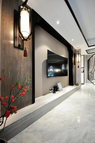 165㎡中式风格电视背景墙装修效果图