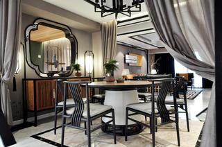 165㎡中式风格餐厅装修效果图